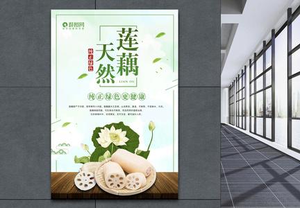 天然莲藕海报图片