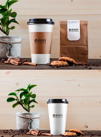 咖啡杯包装样机展示图