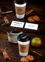 咖啡杯logo样机贴图素材图片