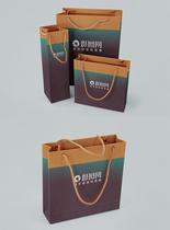 整套购物袋包装样机展示图片