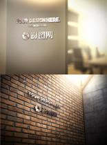 logo形象墙样机图片