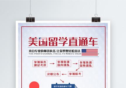 美国留学海报图片