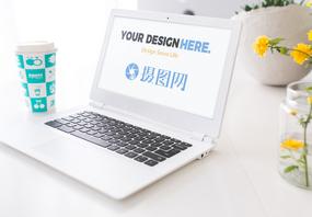 笔记本logo样机图片
