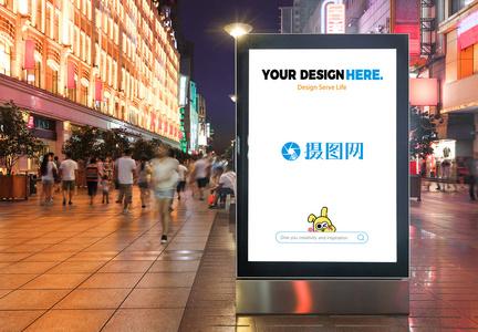 车站广告样机图片