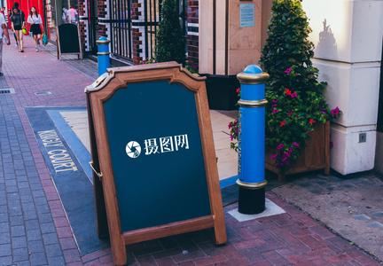 咖啡厅广告牌样机图片