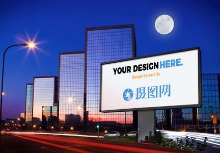 户外广告样机场景图片