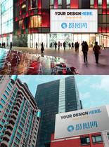 商场广场广告样机图片