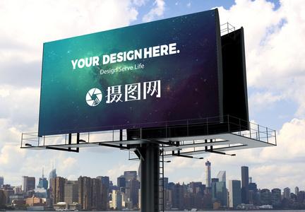 外景广告样机场景图片