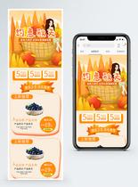 秋季水果蓝莓手机端模板图片