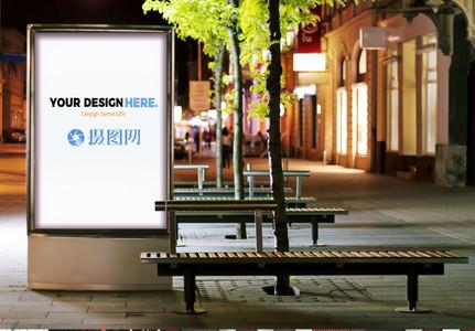 户外广告样机素材图片