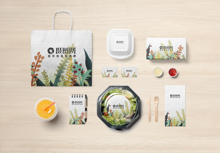 餐饮店品牌宣传VI样机展示图片
