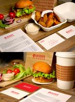 汉堡店VI提案图片