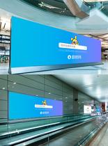地铁广告牌样机图片