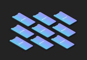 黑色iPhone X手机展示样机图片