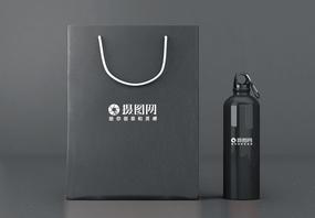 经典灰色包装袋样机图片