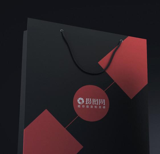 经典黑色手提袋样机图片素材_免费下载_psd图片格式