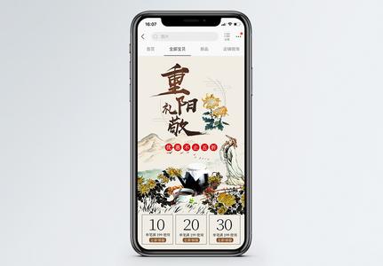 重阳节药材促销淘宝手机端模板图片