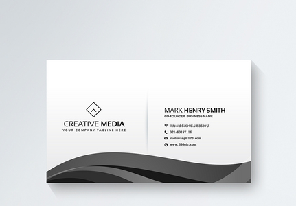 黑色时尚商务名片设计图片