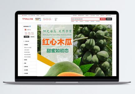 木瓜水果电商详情页模板图片