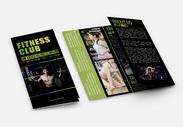 黑色大气健身俱乐部三折页图片