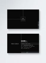 黑色商务名片设计图片