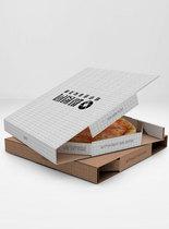 披萨盒包装样机图片