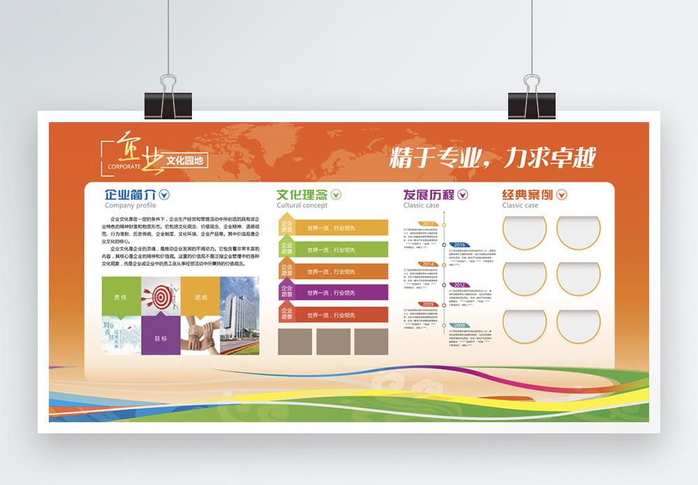 精于专业企业文化墙展板图片