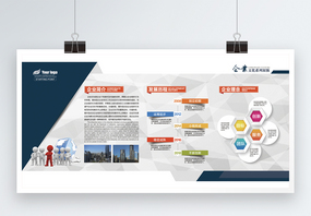 企业介绍文化墙展板图片