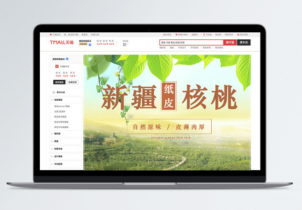 新疆纸皮核桃促销淘宝详情页图片