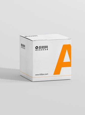 简约白色盒子包装样机