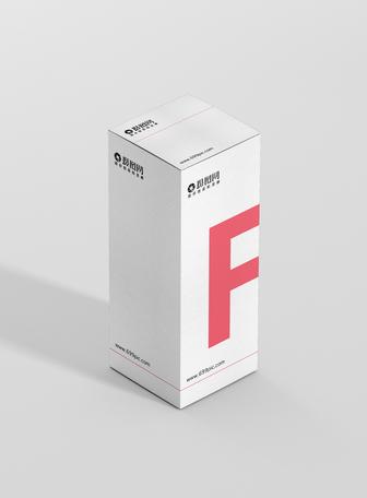 白色背景盒子包装样机