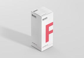白色背景盒子包装样机图片