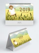 2019手绘风台历图片