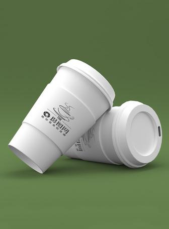 白色咖啡杯包装展示