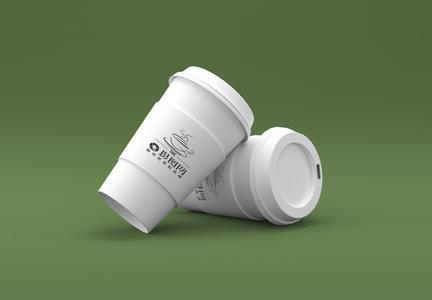 白色咖啡杯包装展示图片