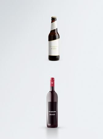 红酒瓶子包装样机