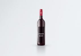 红酒瓶子包装样机图片