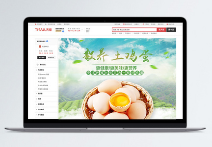 美味土鸡蛋优惠促销淘宝详情页图片
