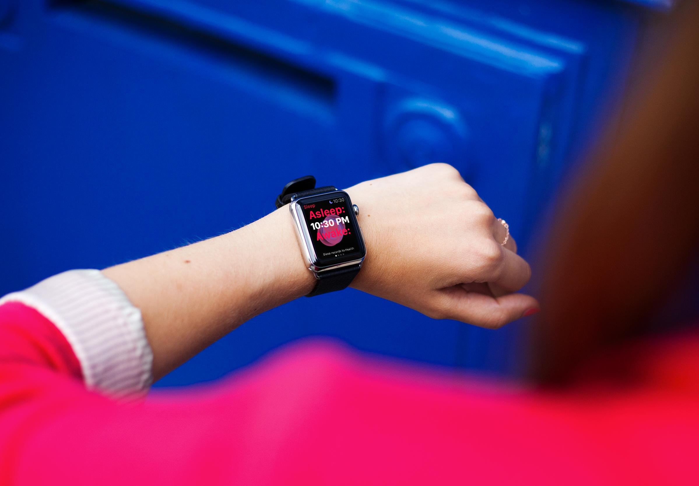 苹果手表watcht配带场景样机图片