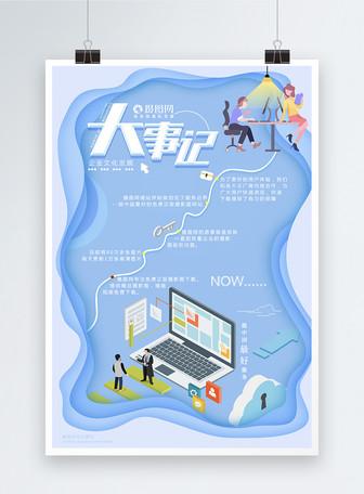 商务风企业大事记海报