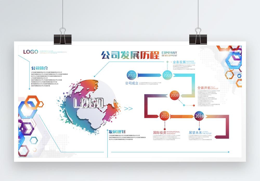 企业公司发展历程展板图片