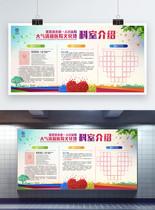 创意炫彩医院介绍文化墙展板图片