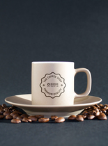 咖啡杯logo贴图样机图片