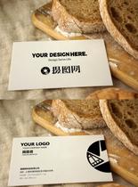 面包黑白简约商务名片VI样机图片