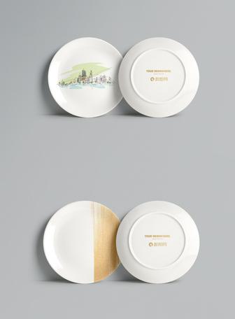 盘子logo样机素材