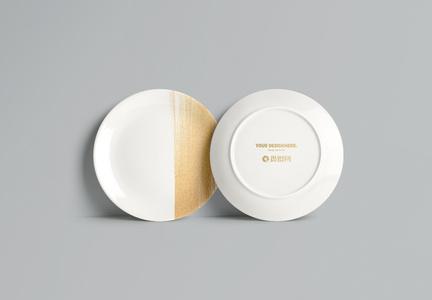 盘子logo样机素材图片