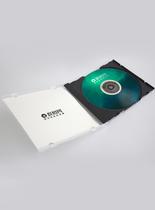 打开的CD盒包装样机图片