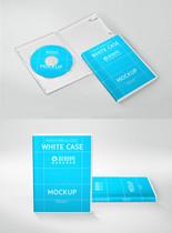 打开的CD盒包装展示样机图片