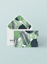 清新绿色信封样机图片