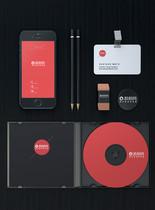 黑色品牌VI展示样机图片